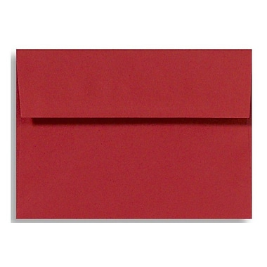 LUX A4 Invitation Envelopes (4 1/4 x 6 1/4) 50/Box, Holiday Red (4872-R-50)