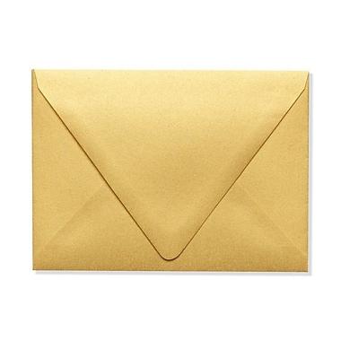 LUX A6 Contour Flap Envelopes (4 3/4 x 6 1/2) 500/Box, Gold Metallic (1875-07-500)