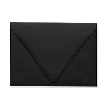 LUX A6 Contour Flap Envelopes (4 3/4 x 6 1/2) 1000/Box, Midnight Black (1875-B-1000)