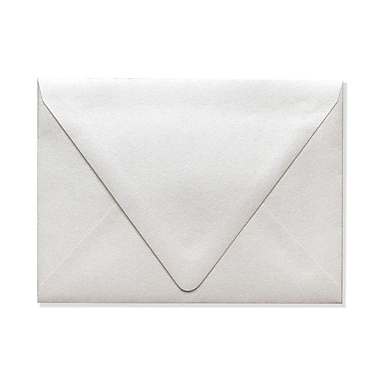 LUX A6 Contour Flap Envelopes (4 3/4 x 6 1/2) 500/Box, Quartz Metallic (1875-08-500)