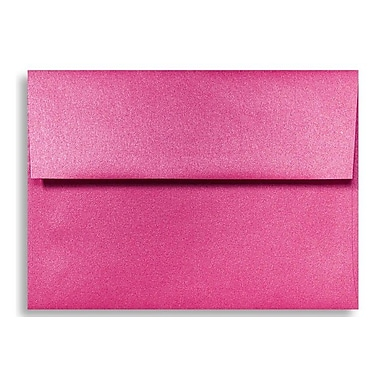 LUX A6 Invitation Envelopes (4 3/4 x 6 1/2) 500/Box, Azalea Metallic (5375-24-500)