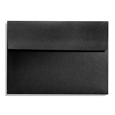 LUX A6 Invitation Envelopes (4 3/4 x 6 1/2) 50/Box, Black Satin (FA4875-01-50)