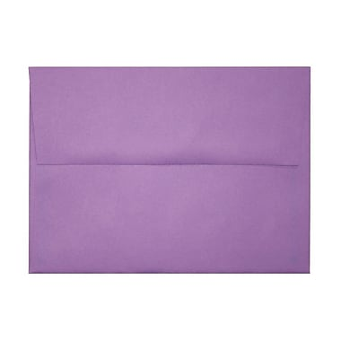 LUX A7 Invitation Envelopes (5 1/4 x 7 1/4) 50/Box, Bright Violet (FE4280-17-50)