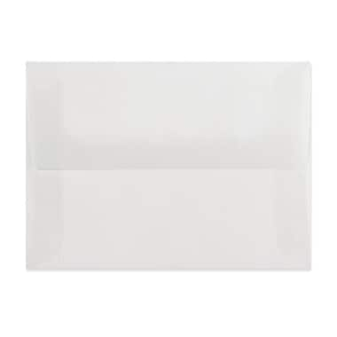 LUX A6 Invitation Envelopes (4 3/4 x 6 1/2) 50/Box, Clear Translucent (4875-00-50)