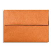 "LUX® 4 3/4"" x 6 1/2"" 80lbs. Square Flap Envelopes W/Glue, Flame Metallic Orange , 50/Pack"