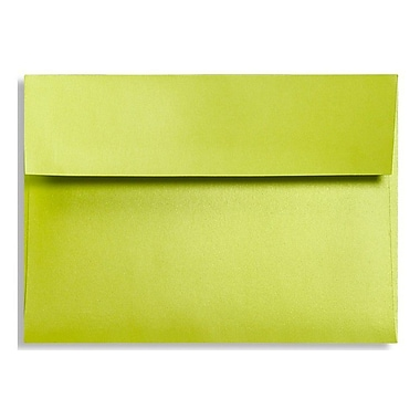 LUX A6 Invitation Envelopes (4 3/4 x 6 1/2) 250/Box, Glowing Green (FA4875-03-250)