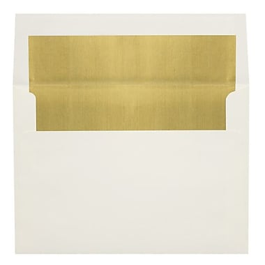 LUX A6 Foil Lined Invitation Envelopes (4 3/4 x 6 1/2) 100/Box, Natural w/Gold LUX Lining (FLNT4875-04-100)