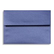 "LUX® 4 3/4"" x 6 1/2"" 80lbs. Square Flap Envelopes W/Glue, Sapphire Metallic Blue, 50/Pack"
