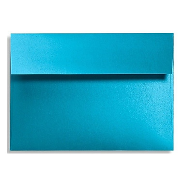 LUX® 92lbs. 4 3/4in. x 6 1/2in. Square Flap Envelopes W/Glue, Trendy Teal Blue, 500/BX