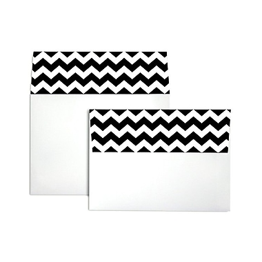 LUX® 5 1/4 x 7 1/4 70 lb. A7 Invitation Envelopes W/Peel & Press, Black Chevron