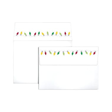 LUX A7 Colorflaps Envelopes (5 1/4 x 7 1/4) 50/Box, Christmas Lights (CF4880-96-50)