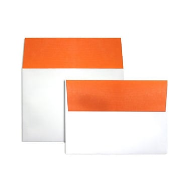 LUX A7 Colorflaps Envelopes (5 1/4 x 7 1/4) 50/Box, Mandarin Flap (CF4880-11-50)