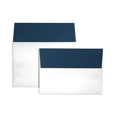 LUX A7 Colorflaps Envelopes (5 1/4 x 7 1/4) 50/Box, Navy Flap (CF4880-103-50)