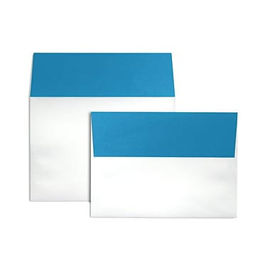 LUX® 5 1/4 x 7 1/4 70 lb. A7 Invitation Envelopes W/Peel & Press, Pool Blue Flap