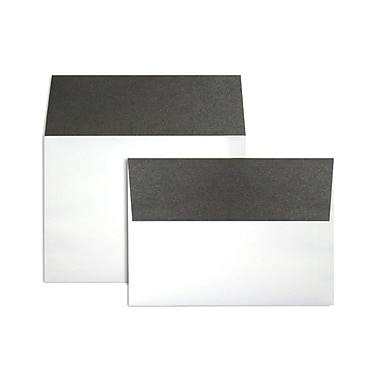 LUX® 5 1/4 x 7 1/4 70 lb. A7 Invitation Envelopes W/Peel & Press, Smoke Gray Flap