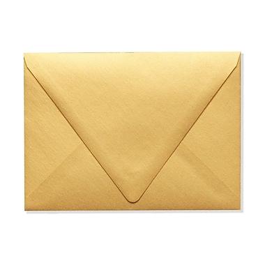 LUX A7 Contour Flap Envelopes (5 1/4 x 7 1/4) 50/Box, Gold Metallic (1880-07-50)