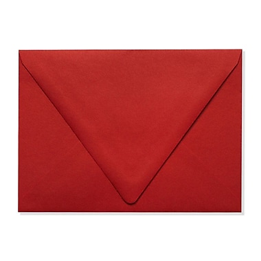 LUX A7 Contour Flap Envelopes (5 1/4 x 7 1/4) 50/Box, Ruby Red (EX-1880-18-50)