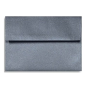 "LUX® 5 1/4"" x 7 1/4"" 80lbs. A7 Invitation Envelopes W/Glue, Anthracite Metallic Gray, 50/Pack"