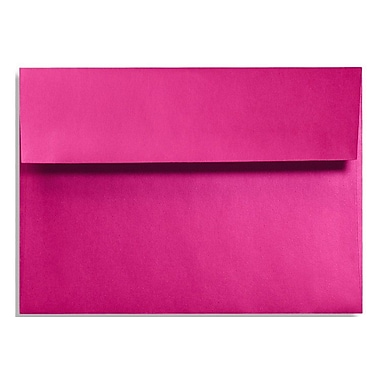 LUX A7 Invitation Envelopes (5 1/4 x 7 1/4) 50/Box, Hottie Pink (FA4880-04-50)