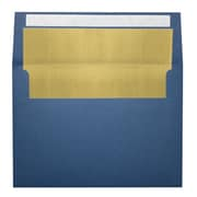 "LUX® 80lbs. 5 1/4"" x 7 1/4"" A7 Invitation Envelopes W/Peel & Press, Navy Blue/Gold LUX, 250/BX"