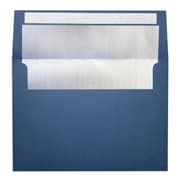 LUX A7 Foil Lined Invitation Envelopes (5 1/4 x 7 1/4) 50/Box, Navy w/Silver LUX Lining (FLNV4880-03-50)