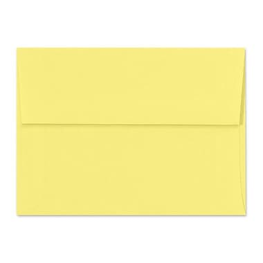 LUX A7 Invitation Envelopes (5 1/4 x 7 1/4) 50/Box, Pastel Canary (SH4280-02-50)
