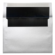 LUX A7 Foil Lined Invitation Envelopes (5 1/4 x 7 1/4) 50/Box, Silver w/Black LUX Lining (FLSL4880-02-50)