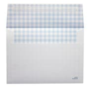 "LUX® 70lbs. 5 1/4"" x 7 1/4"" A7 Invitation Envelopes W/Peel & Press, Blue Gingham, 250/BX"