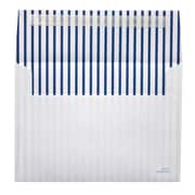 "LUX® 5 1/4"" x 7 1/4"" 70lbs. Square Flap A7 Envelopes W/Peel & Press, Blue Lines"
