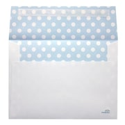 LUX® 70lbs. 5 1/4 x 7 1/4 Square Flap Envelopes W/Peel & Press, Blue Polka Dots, 1000/BX