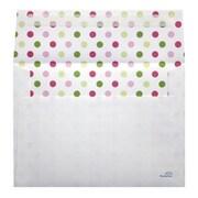 "LUX® 5 1/4"" x 7 1/4"" 70lbs. Square Flap A7 Envelopes W/Peel & Press, Flower Garden"