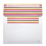 LUX® 70lbs. 5 1/4 x 7 1/4 Square Flap Envelopes W/Peel & Press, Fruity Stripes, 250/BX