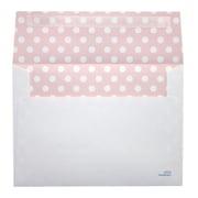 "LUX® 70lbs. 5 1/4"" x 7 1/4"" A7 Invitation Envelopes W/Peel & Press, Pink Polka Dots, 250/BX"