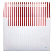 LUX® 70lbs. 5 1/4 x 7 1/4 Square Flap Envelopes W/Peel & Press, Red Lines, 1000/BX