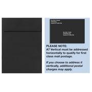 LUX A7 Vertical Invitation Envelopes (7 1/4 x 5 1/4) 50/Box, Midnight Black (4880V-B-50)