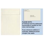 "LUX® 7 1/4"" x 5 1/4"" 70lbs. Square Flap Vertical Envelopes W/Peel & Press, Natural"