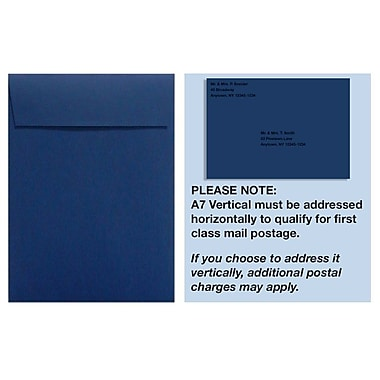 LUX A7 Vertical Invitation Envelopes (7 1/4 x 5 1/4) 250/Box, Navy (4880V-103-250)