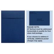 LUX A7 Vertical Invitation Envelopes (7 1/4 x 5 1/4) 1000/Box, Navy (4880V-103-1000)