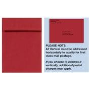 LUX A7 Vertical Invitation Envelopes (7 1/4 x 5 1/4) 1000/Box, Ruby Red (4880V-18-1000)