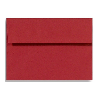 LUX A8 Invitation Envelopes (5 1/2 x 8 1/8) 50/Box, Holiday Red (67146-50)