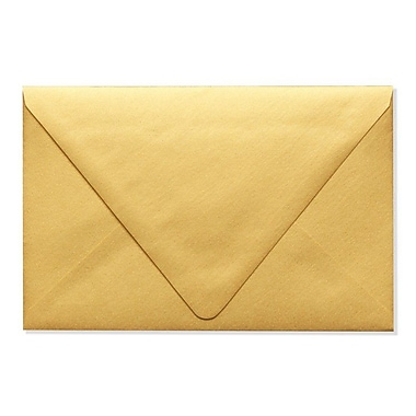 LUX A9 Contour Flap Envelopes (5 3/4 x 8 3/4) 50/Box, Gold Metallic (1895-07-50)