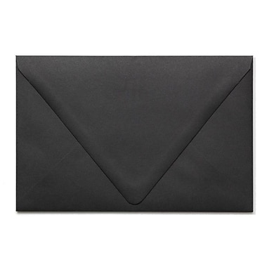 LUX A9 Contour Flap Envelopes (5 3/4 x 8 3/4) 50/Box, Midnight Black (1895-B-50)