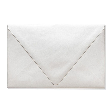LUX A9 Contour Flap Envelopes (5 3/4 x 8 3/4) 500/Box, Quartz Metallic (1895-08-500)