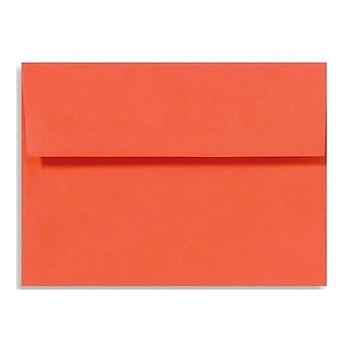 LUX A9 Invitation Envelopes (5 3/4 x 8 3/4) 50/Box, Tangerine (LUX-4895-112-50)