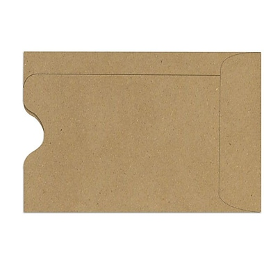 LUX Credit Card Sleeve (2 3/8 x 3 1/2) 50/Box, Grocery Bag (1801-GB-50)