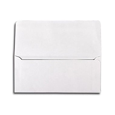 LUX® 2 7/8in. x 6 1/2in. Square Flap Currency Envelopes, White, 50/Pack