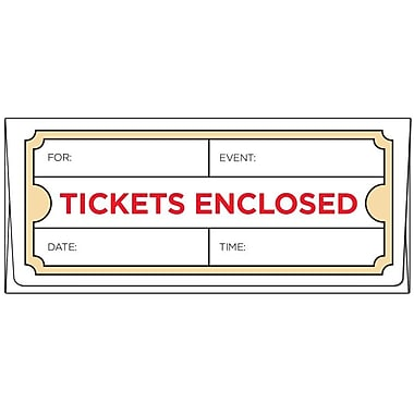 LUX Ticket Envelopes (2 7/8 x 6 1/2) 250/Box, Tickets Enclosed (TIX-99-250)