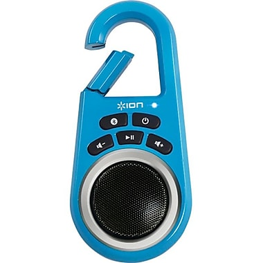 Ion Audio ISP29BL Clipster Wireless Speaker With Built-in Clip, Blue