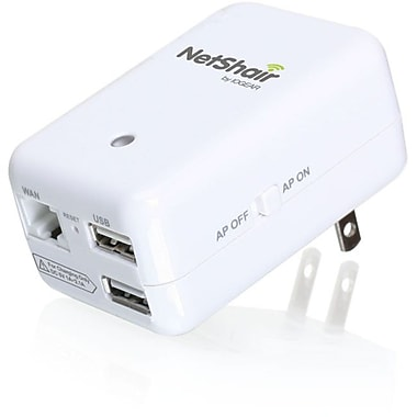 Iogear GWRH1 NetShair Link Portable Wi-Fi Router and USB Media Hub, 2.40 GHz