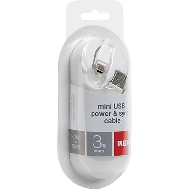 RCA 3 USB Data Transfer Cable, White